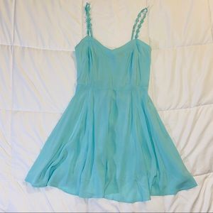 Mint Blue Summer Dress Aeropostale Spaghetti Strap